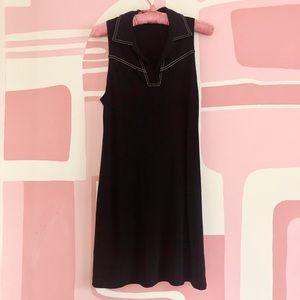 1960s Jersey Knit Sleeveless Shift Dress
